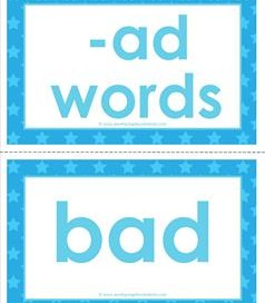 cvc word cards -ad words