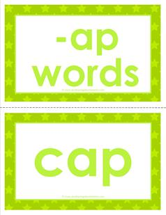 cvc word cards -ap words