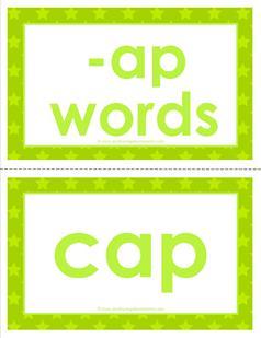 cvc word cards -ap words