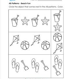 abc patterns  kindergarten pattern worksheets patterns worksheets