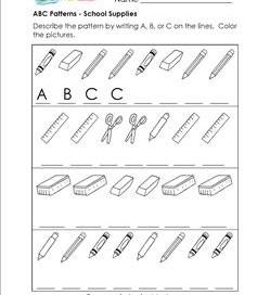 printable ab pattern worksheets for kindergarten your letter on ...