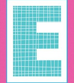 alphabet letter e - plaid and polka dot