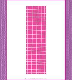 alphabet letter i - plaid and polka dot