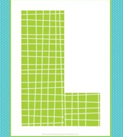 alphabet letter l - plaid and polka dot