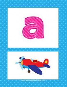 alphabet poster - lowercase a