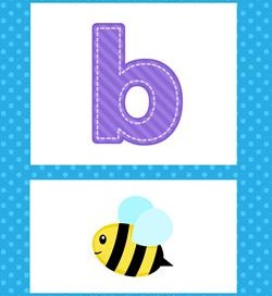 alphabet poster - lowercase b