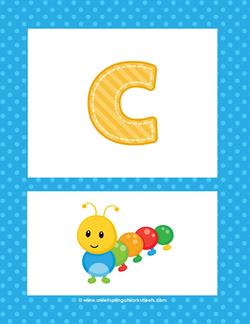 alphabet poster - lowercase c