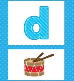 alphabet poster - lowercase d