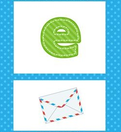 alphabet poster - lowercase e