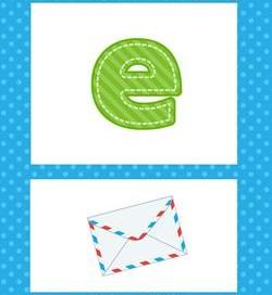 alphabet poster - lowercase e