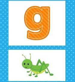 alphabet poster - lowercase g