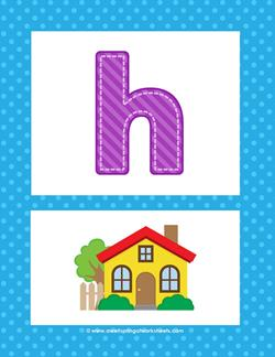 alphabet posters - lowercase h