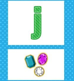 alphabet poster - lowercase j