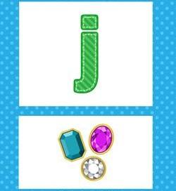 alphabet poster - lowercase j