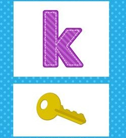 alphabet poster - lowercase k