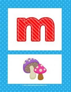 alphabet poster - lowercase m