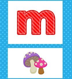 alphabet poster - lowercase m