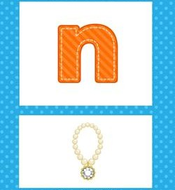 alphabet poster - lowercase n
