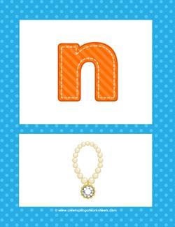alphabet poster - lowercase n