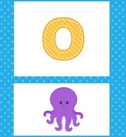 alphabet poster - lowercase o
