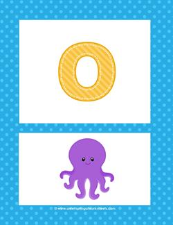alphabet poster - lowercase o