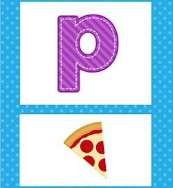 alphabet poster - lowercase p