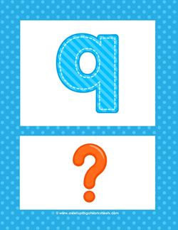 alphabet poster - lowercase q