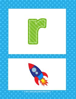 alphabet poster - lowercase r
