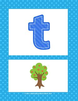 alphabet poster - lowercase t