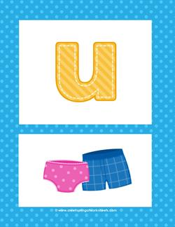 alphabet poster - lowercase u