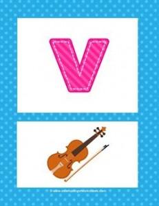 alphabet poster - lowercase v