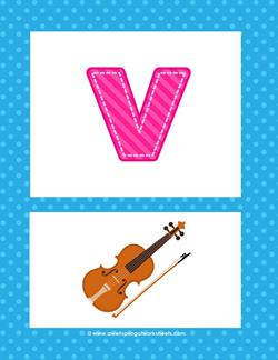 alphabet poster - lowercase v