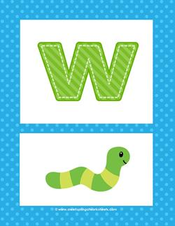 alphabet poster - lowercase w