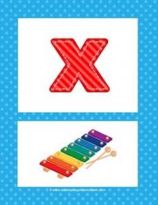 alphabet poster - lowercase x