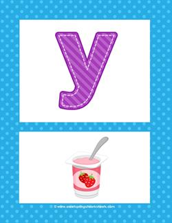 alphabet poster - lowercase y