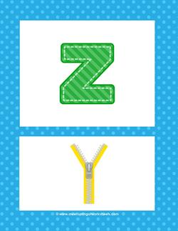 alphabet poster - lowercase z