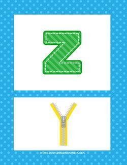 alphabet poster - lowercase z