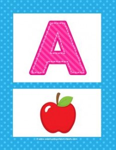 Alphabet Poster - Uppercase A. Part of a set of beautiful uppercase alphabet posters!