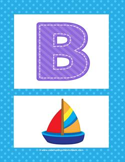 Alphabet Poster - Uppercase B. Part of a set of fun and colorful alphabet posters.