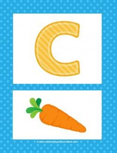 Alphabet Poster - Uppercase C. Part of a set of colorful uppercase alphabet posters.