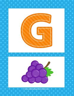 Alphabet Poster - Uppercase G. Part of a set of uppercase alphabet posters!