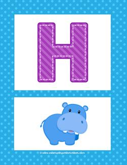 Alphabet Poster - Uppercase H. Part of a set of brightly colored alphabet posters.