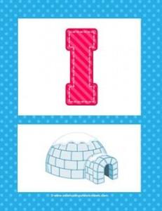 alphabet poster - uppercase i