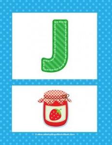 alphabet poster - uppercase j
