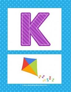alphabet poster - uppercase k