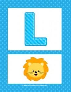 alphabet poster - uppercase l