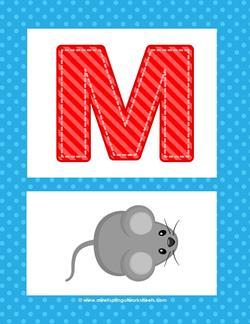 alphabet poster uppercase m