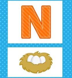 alphabet poster - uppercase n