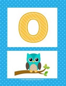 alphabet poster - uppercase o