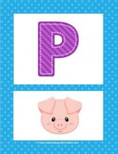 alphabet poster - uppercase p
